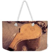 Antique Brass Military Whistle Weekender Tote Bag