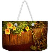 Antique Bucket With Yellow Flowers Weekender Tote Bag
