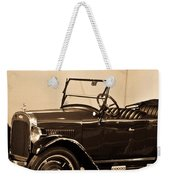 Antique Car In Sepia 1 Weekender Tote Bag