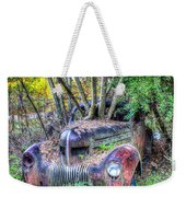 Antique Car With Trees In Windshield Weekender Tote Bag