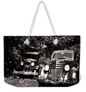 Antique Cars Black And White Weekender Tote Bag