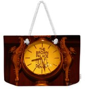 Antique Clock At The Bown Palace Hotel Weekender Tote Bag
