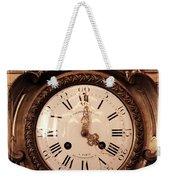 Antique Clock In Sepia Weekender Tote Bag