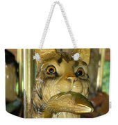 Antique Dentzel Menagerie Carousel Cat With Fish In Rochester New York Weekender Tote Bag