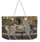 Antique Dentzel Menagerie Carousel Horse Colored Pencil Effect Weekender Tote Bag