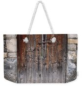 Antique Door Wood Weekender Tote Bag