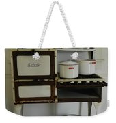 Antique Estate Stove With Cookware Weekender Tote Bag