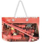 Antique Farmall Cub Engine Weekender Tote Bag
