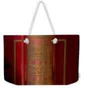 Antique Fire Extinguisher Weekender Tote Bag