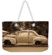 Antique Ford Car Sepia 1 Weekender Tote Bag