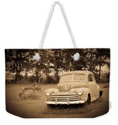 Antique Ford Car Sepia 2 Weekender Tote Bag