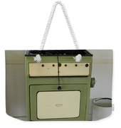 Antique Green Stove And Pressure Cooker Weekender Tote Bag