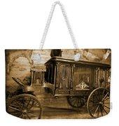 Antique Hearse As Tintype Weekender Tote Bag