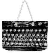Antique Keyboard - Bw Weekender Tote Bag