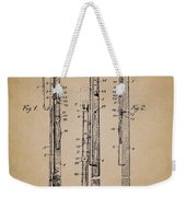 Antique Lamp Post Attachment Patent Weekender Tote Bag