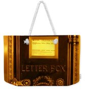 Antique Letter Box At The Brown Palace Hotel Weekender Tote Bag