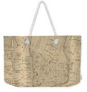 Antique Manhattan Map Weekender Tote Bag