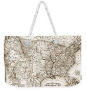 Antique Map 1853 United States Of America Weekender Tote Bag by Dan Sproul