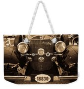 Antique Mercedes Benz In Sepia Weekender Tote Bag