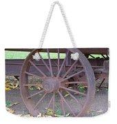 Antique Metal Wheel Weekender Tote Bag