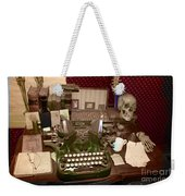 Antique Oliver Typewriter On Old West Physician Desk Weekender Tote Bag by Janice Rae Pariza