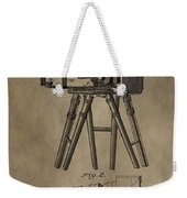 Antique Photographic Camera Patent Weekender Tote Bag