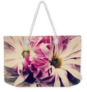 Antique Pink And White Daisies Weekender Tote Bag