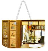 Antique Post Office Letter Boxes At The Boardwalk Plaza In Rehoboth Beach Delaware Weekender Tote Bag