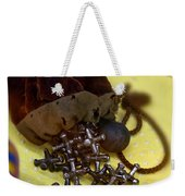 Antique Pouch Of Ball And Jacks Game Art Prints Weekender Tote Bag