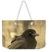 Antique Sepia Crow Weekender Tote Bag