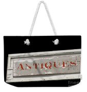 Antique Sign Weekender Tote Bag