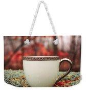 Antique Teacup In The Woods Weekender Tote Bag by Edward Fielding