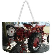 Antique Tractor Hiding In The Shadows Weekender Tote Bag