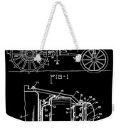 Antique Tractor Patent Weekender Tote Bag