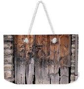 Antique Wood Door Damaged Weekender Tote Bag