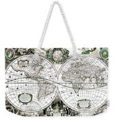 Antique World Map Poster Weekender Tote Bag