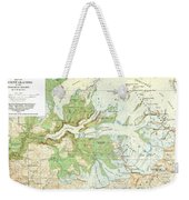 Antique Yosemite National Park Map Weekender Tote Bag