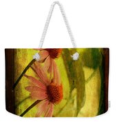 Antiqued Cone Flowers Weekender Tote Bag