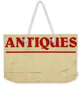 Antiques Sign Weekender Tote Bag