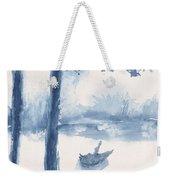 Antwerp Blue Landscape Watercolor Weekender Tote Bag