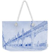 Antwerp Railway Bridge Blueprint Weekender Tote Bag