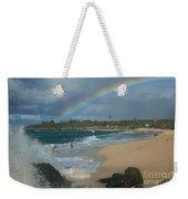 Anuenue - Aloha Mai E Hookipa Beach Maui Hawaii Weekender Tote Bag