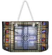 Anzac Day 2014 Auckland War Memorial Museum Stained Glass Roof Weekender Tote Bag