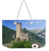 Aosta Valley - Chatelard Ruins Weekender Tote Bag