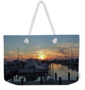 Apalachicola Marina At Sunset Weekender Tote Bag