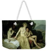 Apollo With Hyacinthus And Cyparissus Singing And Playing, 1831-34 Oil On Canvas Weekender Tote Bag