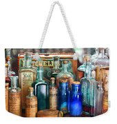 Apothecary - Remedies For The Fits Weekender Tote Bag by Mike Savad