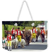 Appenzell Parade Of Cows Weekender Tote Bag