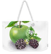 Apple And Blackberries Weekender Tote Bag