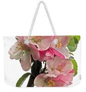 Apple Blossom Vertical Weekender Tote Bag